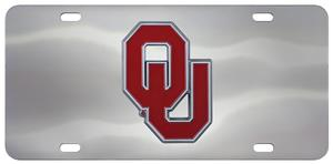 Fan Mats NCAA Oklahoma Diecast License Plate