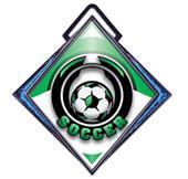 "Excel 3"" Blue Diamond Medal Epic Soccer Mylar"