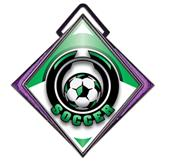 "Excel 3"" Purple Diamond Medal Epic Soccer Mylar"