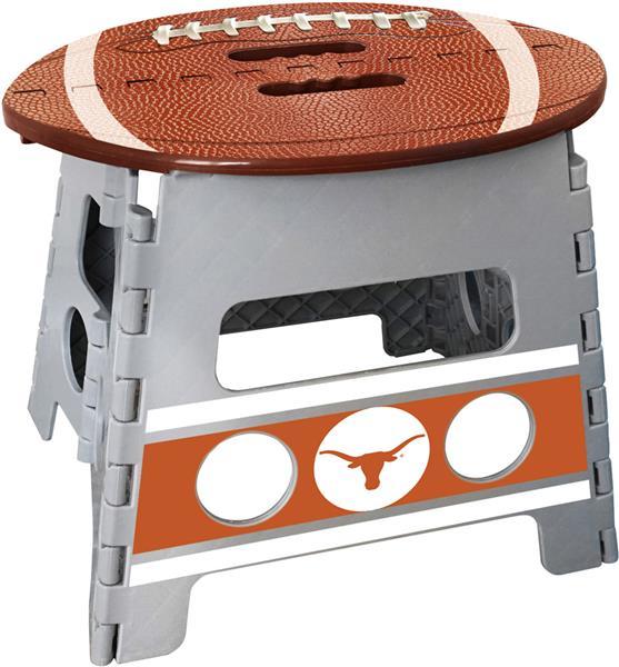 Pleasing Fan Mats Ncaa Texas Folding Step Stool Machost Co Dining Chair Design Ideas Machostcouk