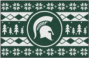 Fan Mats NCAA MSU Holiday Sweater Starter Mat