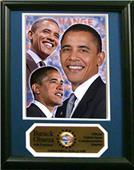 Encore Brandz Barack Obama Photograph Deluxe Frame