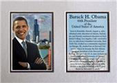 Encore Brandz Barack Obama Chicago Matted Print