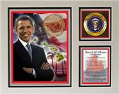 Encore Brandz Barack Obama Hawaii Matted Print