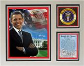 Encore Brandz Barack Obama Washington Matted Print