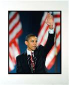 Encore Brandz Barack Obama Waving Matted Print