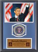 Encore Brandz Barack Obama Waving Deluxe Frame