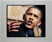 Encore Brandz Barack Obama Speech Matted Print