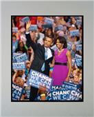Encore Brandz Barack & Michelle Obama Matted Print