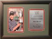 Encore Brandz PGA Justin Leonard Autographed Frame