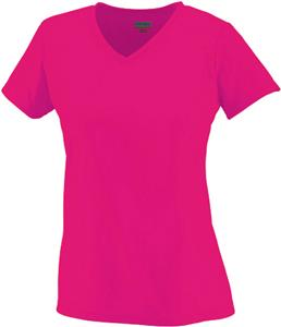 Pink or Gold Women & Girls Cooling Fitted V-Neck Tee Shirt
