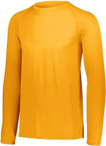 Augusta Attain Wicking Long Sleeve Gold1 Shirt
