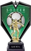 "9.25"" Spectra Female Soccer Trophy Marble Base"