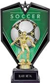 "9.25"" Spectra Male Soccer Trophy Marble Base"
