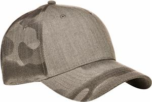 Continental Headwear 6850 Gunmetal Camo Cap. Embroidery is available on this item.