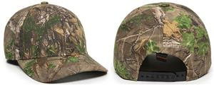 OC Sports 301IS Adjustable Camo Snap Back Cap. Embroidery is available on this item.