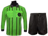 Soccer Referee Long Sleeve Lime Jersey Short Kit
