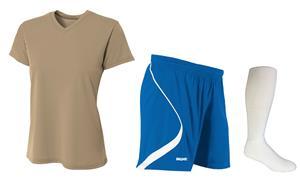 Womens V-Neck Multi-Sport Jersey Shorts & Sock Kit