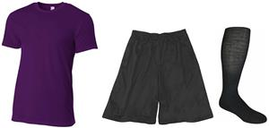 "Adult Fitted Cotton T-Shirt, 9"" Shorts & Sock Kit"