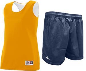 """Ladies GOLD Reversible Tank & 9"""" Mesh Shorts Kit"""