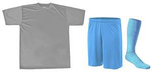 "Adult Wickting Tee 9"" Mesh Shorts & Sock Kit"