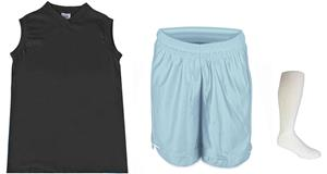 "Womens V-Neck Jersey 5"" Athletic Shorts Sock KIT"