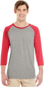 Adult 3/4 sleeveTRI-BLEND Baseball Raglan Tee. Decorated in seven days or less.
