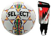 Select United Soccer Ball Size 4 Shin Guards KIT