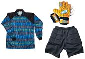 Adult Youth Soccer Goalie Jersey Gloves Shorts KIT