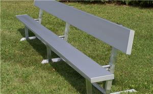 Portable Aluminum or Galvanized Benches w/Backrest. Free shipping.  Some exclusions apply.