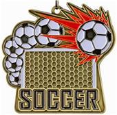 """Epic 2.5"""" Sport Burst Gold Soccer Medals"""