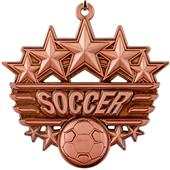 """Epic 2 3/8"""" Arched Stars Soccer Medals"""