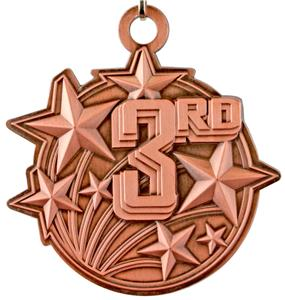 "Epic 2 1/4"" Shooting Star Place Medals"
