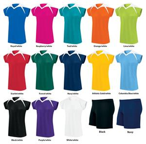 Womens Girls Power Custom Volleyball Jerseys Uniform Kit ...