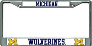NCAA Michigan Wolverine Chrome License Plate Frame