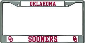 NCAA Oklahoma Sooners Chrome License Plate Frame