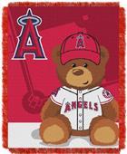 Northwest MLB LA Angels Field Bear Baby Throw