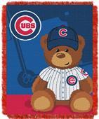 Northwest MLB Chicago Field Bear Baby Throw