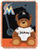 Northwest MLB Miami Field Bear Baby Throw