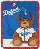 Northwest MLB LA Dodgers Field Bear Baby Throw