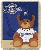 Northwest MLB Milwaukee Field Bear Baby Throw