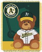 Northwest MLB Oakland Field Bear Baby Throw