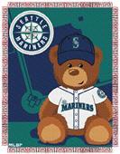 Northwest MLB Seattle Field Bear Baby Throw