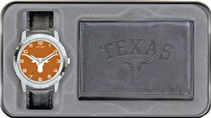 Rico NCAA Texas Longhorns Combo Wallet Watch Set