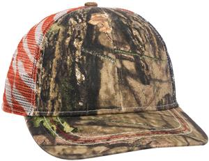 OC CWF-400M American Flag Camo Mesh Back Cap. Embroidery is available on this item.