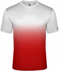 Badger Adult Youth Short Sleeve Ombre Tees. Printing is available for this item.