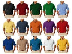 Blue Generation SS Teflon Treated Pique Polo Shirt