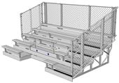 NRS ADA Series 5 Row Bleachers Chainlink Guardrail