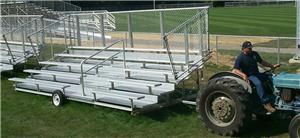 5 Row Transportable Aluminum Bleachers Chain-Link Standard,Pref,Delux. Free shipping.  Some exclusions apply.