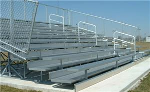 "NRS 10 Row ""Deluxe"" Bleachers With Aisles. Free shipping.  Some exclusions apply."